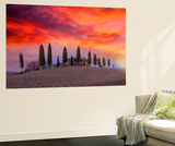 Winter Sunset at Dreamland Wall Mural by Marco Carmassi