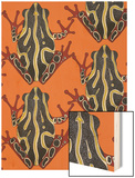 Congo Tree Frog Orange Wood Print by Sharon Turner