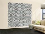Cool Boardwalk Ikat Wall Mural – Large by Sharon Turner