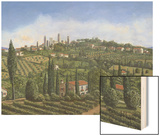San Gimignano Tuscany Wood Print by Richard Harpum