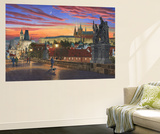 Prague at Dusk Wall Mural by Richard Harpum