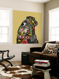 Chimpanzee Love Biscuit Wall Mural by Sharon Turner