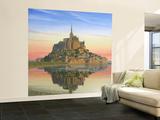Mont Saint Michel Morn Wall Mural – Large by Richard Harpum