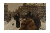 The Singel Bridge at the Paleisstraat in Amsterdam, 1896-8 Giclee Print by Georg-Hendrik Breitner