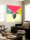 Party Moose Wall Mural by Lisa Kroll