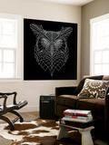 Black Owl Mesh Wall Mural by Lisa Kroll