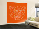 Orange Bear Polygon Wall Mural – Large by Lisa Kroll