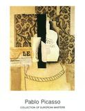 Bouteille et Verre Poster von Pablo Picasso