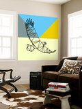 Party Eagle Polygon Wall Mural by Lisa Kroll