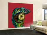 Chameleon Red Wall Mural – Large by Sharon Turner