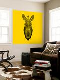 Yellow Zebra Mesh Wall Mural by Lisa Kroll