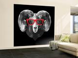 Ram in Red Glasses Wall Mural – Large by Lisa Kroll