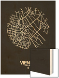 Vienna Street Map Black Prints by  NaxArt