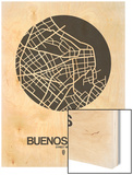 Buenos Aires Street Map Black on White Posters by  NaxArt