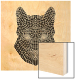 Mountain Lion Mesh Wood Print by Lisa Kroll