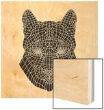 Mountain Lion Mesh Wood Print by Lisa Kroll