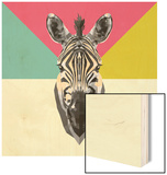 Party Zebra Head Wood Sign by  NaxArt