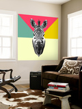 Party Zebra Head Wall Mural by  NaxArt
