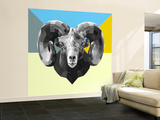 Party Ram Wall Mural – Large by Lisa Kroll