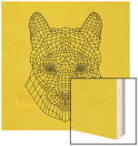 Mountain Lion Yellow Mesh Wood Sign by Lisa Kroll