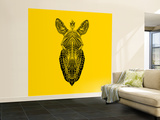 Yellow Zebra Mesh Wall Mural – Large by Lisa Kroll