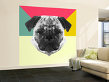 Party Pug Wall Mural – Large by Lisa Kroll