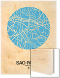 Sao Paulo Street Map Blue Prints by  NaxArt