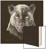 Black Panther Wood Sign by Lisa Kroll