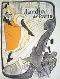 Jane Avril, Jardin De Paris Serigraph by Henri de Toulouse-Lautrec