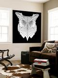 White Owl Mesh Wall Mural by Lisa Kroll