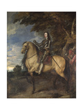 Equestrian Portrait of Charles I (1600-49) C.1637-38 Giclee Print by Sir Anthony van Dyck