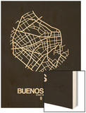 Buenos Aires Street Map Black Wood Print by  NaxArt
