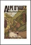 Alpe Du Huez Mounted Print
