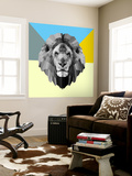 Party Lion Wall Mural by Lisa Kroll