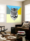 Party Tiger Wall Mural by Lisa Kroll