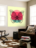 Butterfly and Sunset Wall Mural by Lisa Kroll