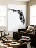 Florida Word Cloud 2 Wall Mural by  NaxArt