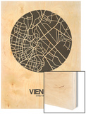 Vienna Street Map Black on White Prints by  NaxArt