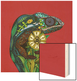 Chameleon Red Wood Sign by Sharon Turner