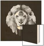 Lion Head Wood Print by Lisa Kroll