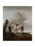 The Grey Horse, 1646 Giclee Print by Philips Wouwermans Or Wouwerman