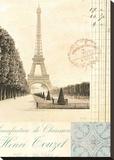 Paris Early Dawn Stretched Canvas Print by Cristin Atria