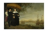 A Senior Merchant of the Dutch East India Company Jacob Mathieusen and His Wife, C.1640-60 Giclee Print by Aelbert Cuyp