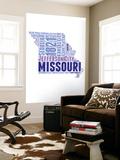 Missouri Word Cloud Map Wall Mural by  NaxArt