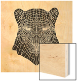 Panther Head Mesh Wood Sign by Lisa Kroll