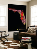 Florida Word Cloud 1 Wall Mural by  NaxArt