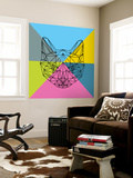 Party Cat 2 Wall Mural by Lisa Kroll