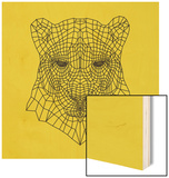 Panther Head Yellow Mesh Wood Sign by Lisa Kroll