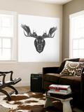 Moose Head Mesh Wall Mural by Lisa Kroll