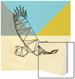 Party Eagle Polygon Wood Print by Lisa Kroll